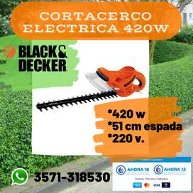 CORTACERCO ELECTRICA 51 CM ESPADA 220V BLACK & DECKER