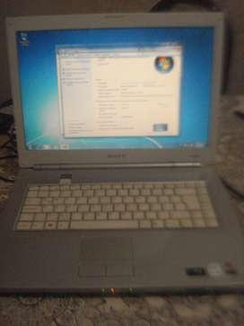Notebook Sony Vaio Vgn N130f Impecable Funcionando No Envio