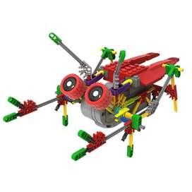 Armatodo de 122 piezas con motor Crawler A0014 similar al LEGO (ROJO)