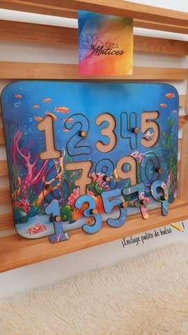 Juego didáctico ¡aprendamos a escirbir los números!