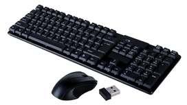 Teclado y Mouse Inalambrico Usb TJ 808