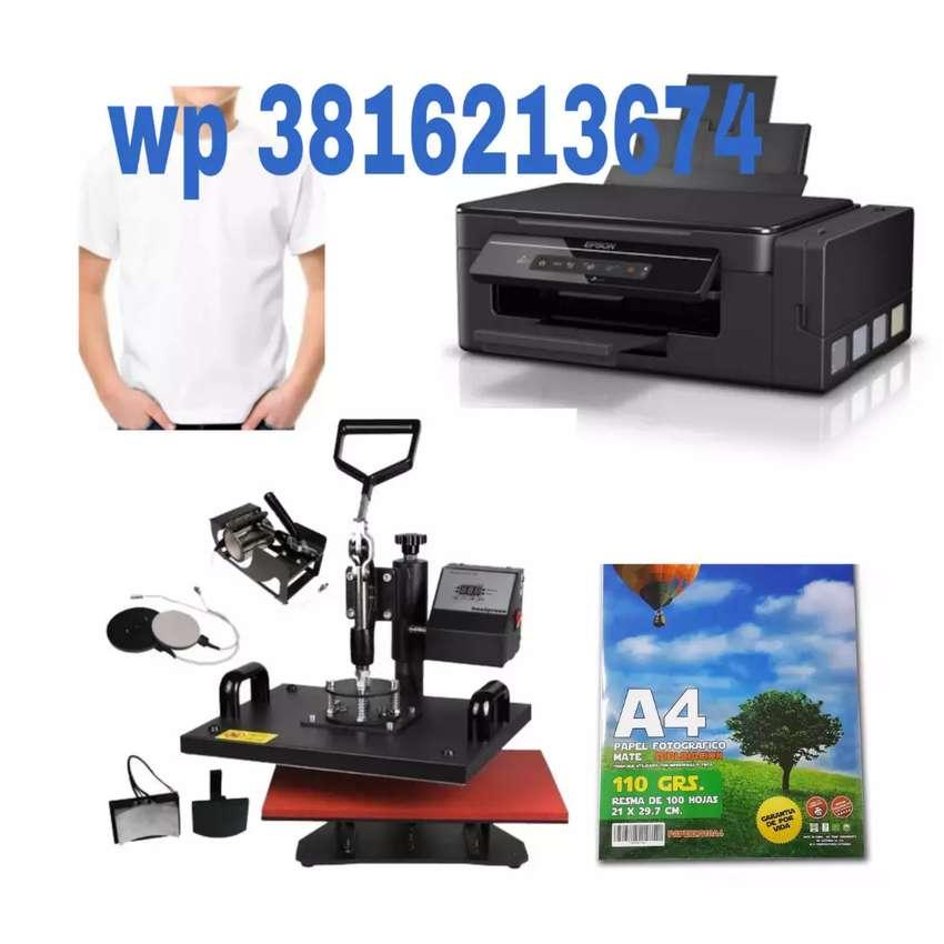 Sublimadora 6 en 1 + impresora + insumos 0