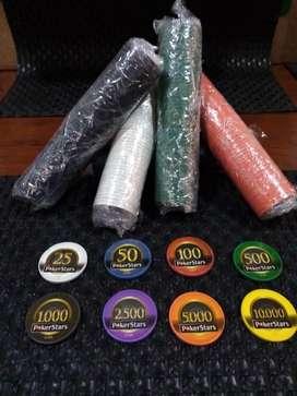 Fichas Plásticas de Poker