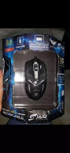 Mouse led gamer recargable