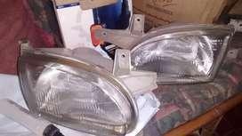 Faros delanteros Hyundai Accent 4P.Originales95 al 99.