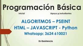 CLASES DE APOYO PROGRAMACION WEB BASICO
