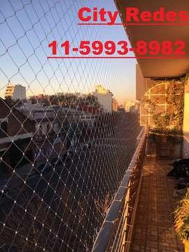 Seguridad con redes para balcones
