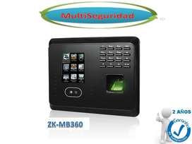 CONTROL BIOMÉTRICO PARA RECONOC FACIAL HUELLA DIGITAL ZK MB360 INC IVA