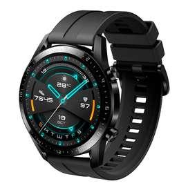 Smartwatch Huawei GT2 (Correa negra y marrón) 46mm - Completamente nuevo, sellado
