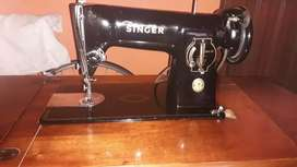 Mueble, maquina de coser singer