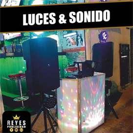 ALQUILER DE SONIDO LUCES DJ GRABACION DE AUDIO CUÑAS FOTOGRAFIA VIDEOS