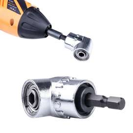 Destornillador angular de 105 grados, llave de torsión, adaptador de 1/4 pulgadas, hexagonal,