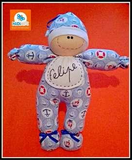 Muñecos de Apego, ideal regalo personalizado con nombre, juguete para recién nacido