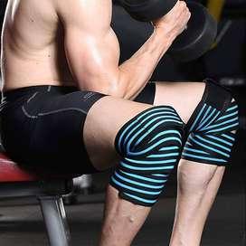 2 Straps rodilla vendaje de compresión para gimnasio cargar peso muerto sentadillas alta compresión crosffit fitness