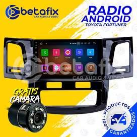 RADIO ANDROID PARA TOYOTA FORTUNER 2011-UP GPS BT USB WIFI BETAFIX DESDE