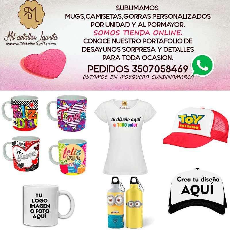 Sublimación y estampado de Mugs,Camisetas,Gorras,etc,envíosFunza,Madrid,Mosquera,Faca,Bogota 0