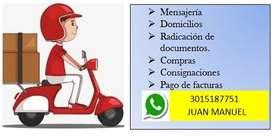 Servicio de Mensajería Urbana solamente en Ibagué