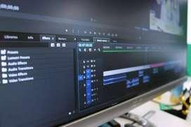 Se realizan trabajos de edición de vídeo