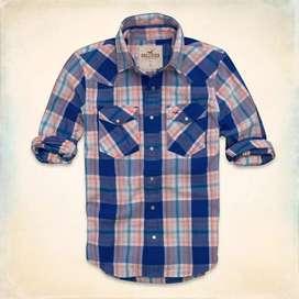 Camisa Hollister First Point - Talla M- Liquidación - EEUU