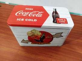 Caja Metalica Tipo Vintage Coca Cola