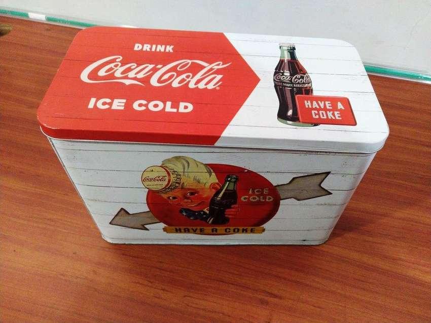 Caja Metalica Tipo Vintage Coca Cola 0