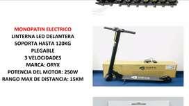 Monopatin electrico hasta 120 kg