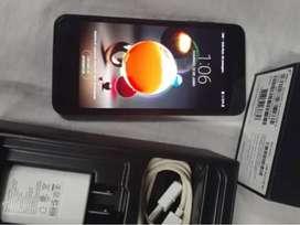 Celular LG K9, casi sin uso en su caja original