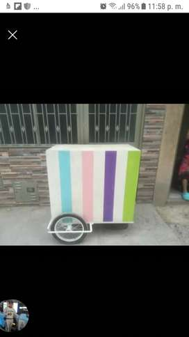 vendo carritos para vender obleas segunda mano  El Recuerdo