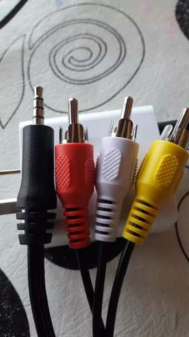 Cable audio estereo auxiliar Mini plus jack