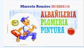 Realizó reparaciones de albañilería como también pintura y plomería