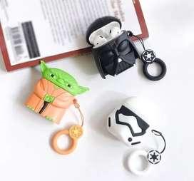 Funda Case Protector AirPods Inalambrico Darth Vader  y Yoda Colgante