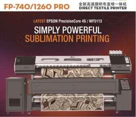 Vendo impresora de telas con transfer en lìnea 1,8 metros, cabezal doble epson