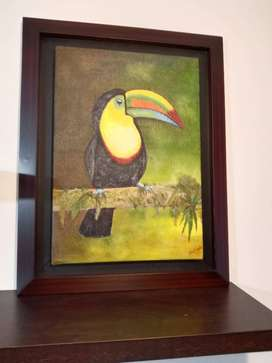 Pintura Al Oleo 100% A Mano 64x50cm + Marco + Envío Gratís.