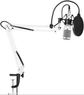 Kit Micrófono Condensador Stand Estudio Blanco Neewer Nw-800