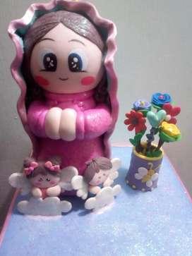 Virgen de Guadalupe en Porcelanicron