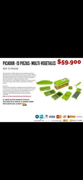 Picador 13 piezas multi vegetales