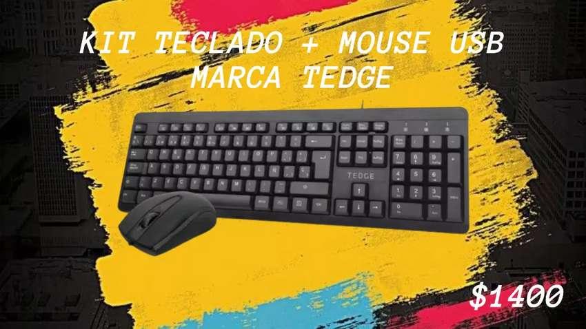 Combo Kit Teclado Y Mouse USB Tedge