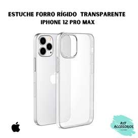 Estuche Para iPhone 12Pro Max Transparente Rígido