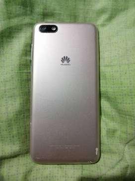 Huawei y5 2018 blanco respaldo dorado buen estado cámaras frontal buen estado
