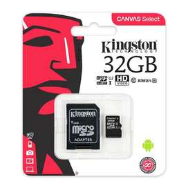 Memoria Micro SD Kingston SDCS Canvas Select 32GB Clase 10 Original + Adaptador SD