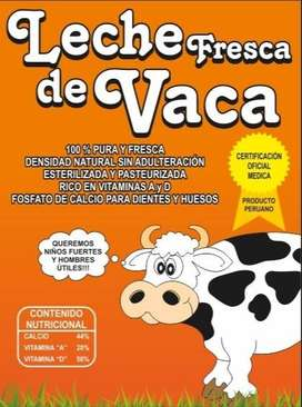 VENTA DE LECHE FRESCA DE VACA