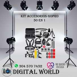 KIT Accesorios GoPro 50 en 1