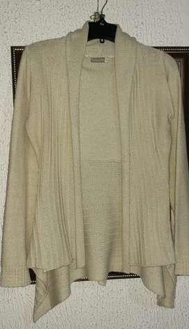 Saco lana talle 42 beige