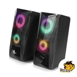 Parlantes Para PC | XTS-130 luces RGB