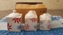 Set x 3 Canisters Flores