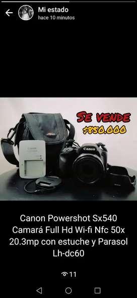 Se vende cámara Canon Powershot Sx540 Camará Full Hd Wi-fi Nfc 50x 20.3mp