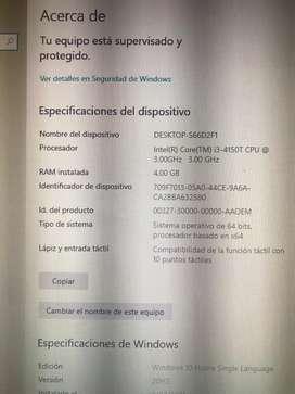 Computador HP TODO EN UNO