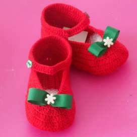 Escarpines Tejidos para Bebe Zapaticos