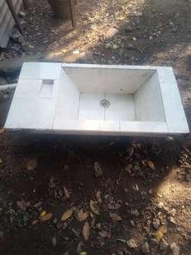 Pileton para lavadero 1mts x 0.50 x 30 d profundidad