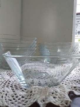 Ensaladeras en vidrio